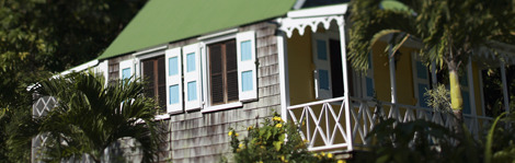 A hillside cottage at Hermitage Plantation Inn, in Nevis