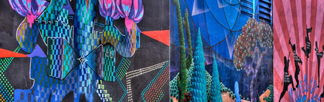 Colorful graffiti brightens up San Francisco's Mission District