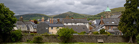"The town of Abergavenny, which is known as the ""Gateway to Wales"""