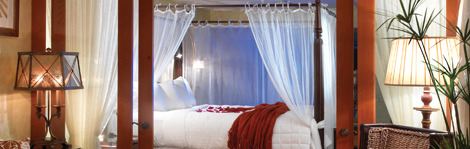 Romantic digs encourage couples to linger in bed till noon