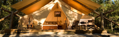 Camping trips at Montana's Resort at Paws Up factor refinement into rusticity